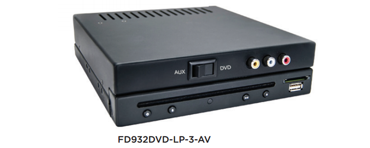 Low Profile DVD and Multi-Media Disc Player with Aux Inputs