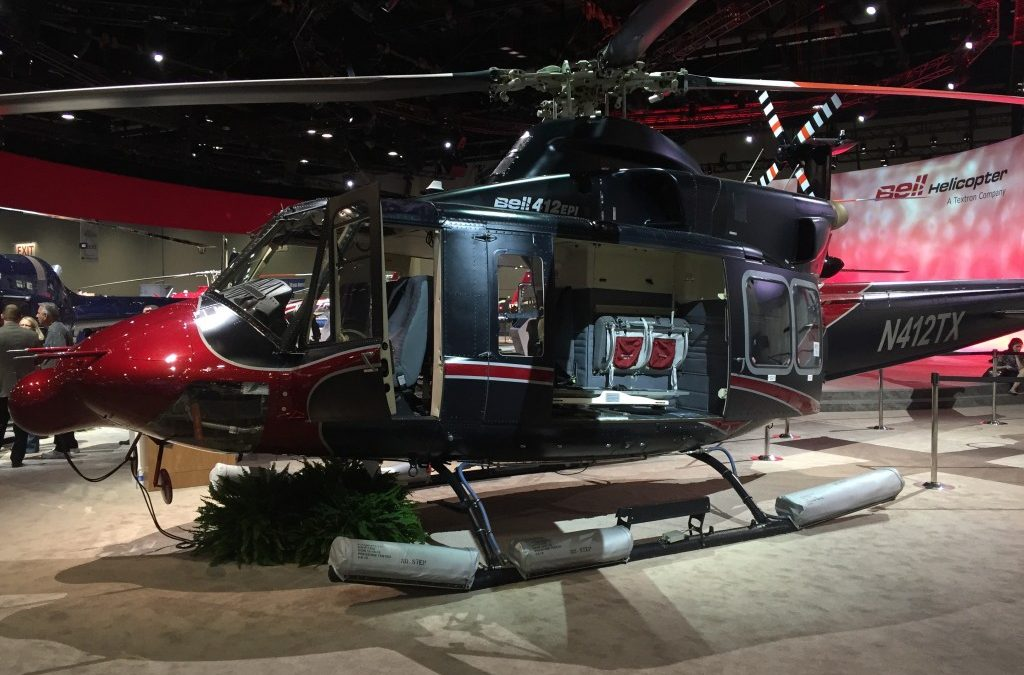 We've got it! HAI Heli-Expo booth.